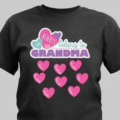 Grandma has a long list of people who love and cherish her. This design is available on our premium 100% cotton t-shirt.Personalize any title and up to 12 names. We just know Grandma will wear this shirt with pride.