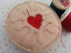 Jammie Dodger Biscuit  Pin cushion by feltsofancy on Etsy, £10.00