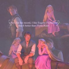 Rapunzel and Flynn Ryder