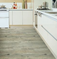 Peel & Stick Self-adhesive Wood Pattern PVC Flooring [RFS-02 Antique Light…