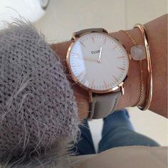 Love this watch grey and rose gold.