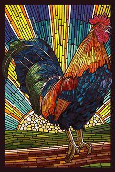 Kogut - Papier Mozaika - Lantern Press Plakat