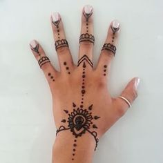 Image result for simple hand henna