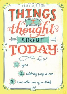 Click through for the sweet inside. Who would you give this cards to? Idle Thoughts - Thinking of You Greeting Cards in Citron   Hallmark