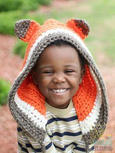 Crochet Fox Bonnet pattern by Stacey Williams
