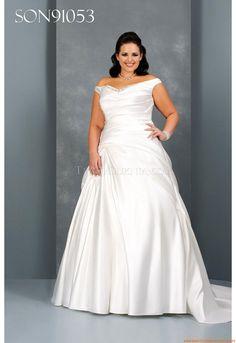 Applikation A-linie Glamoures Romantische Brautkleider für Prinzessin