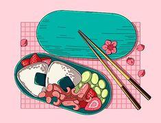 Aesthetic Japan, Japanese Aesthetic, Aesthetic Anime, Aesthetic Food, Anime W, Anime Japan, Cute Food Art, Cute Art, Cute Japanese