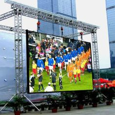 Outdoor LED Display Screen Led Display Board, Led Display Screen, Stage Lighting Design, Casting Aluminum, Steel Trusses, Solar Solutions, Outdoor Screens, Led Furniture, Video Wall