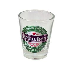 Heineken Beer Logo Shot Glass- You don't drink just any beer-- why would you want just any shot glass? The quality and taste you demand, now on your shot glass as well as in your pint glass.