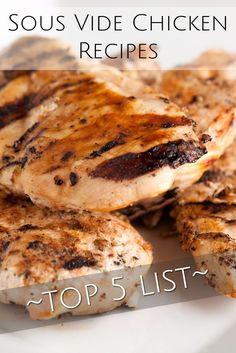 Sous Vide Chicken Recipes Top 5 List - The best of online recipes and cookbooks for chicken cooked sous vide