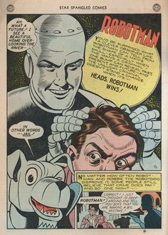 Jimmy Thompson Robotman splash panel for Star Spangled Comics #45, June, 1945.