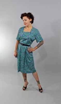 1950s Vintage DressYOUNG AT HEART Spring Fashion by stutterinmama, $48.00