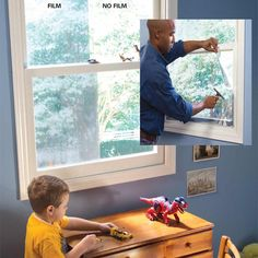 Heat-Reducing Window Film: Keep rooms cooler in the summertime for major #energy savings. Get all the tips: http://www.familyhandyman.com/smart-homeowner/energy-saving-tips/use-less-a-c-and-cut-your-electric-bill