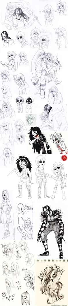 Creepypasta sketches