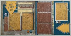 Scrap with Sue: January Club Layouts - Urban Kit