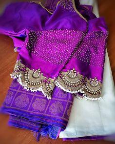 Wedding Saree Blouse Designs, Pattu Saree Blouse Designs, Blouse Designs Silk, Designer Blouse Patterns, Blouse Back Neck Designs, Hand Work Blouse Design, Simple Blouse Designs, Latest Design Of Blouse, Raw Denim