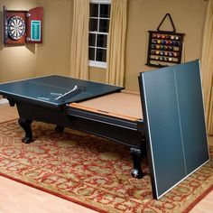 If you have a space too small for a billiard and a ping pong table, then why not merge the two? Get a billiard table and just add the ping pong table surface on top. Now you can choose which to play depending on your mood.