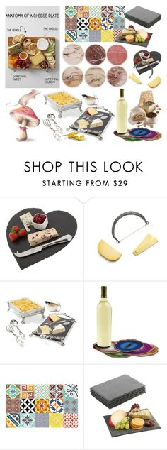 """""""Cheese plate contest"""" by didesi ❤ liked on Polyvore featuring interior, interiors, interior design, home, home decor, interior decorating, The Just Slate Company, Michael Aram, RabLabs and Beija Flor"""