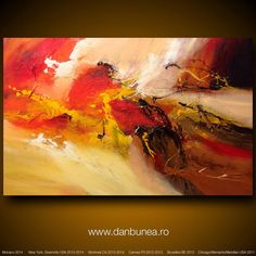 """Large abstract painting by Dan Bunea: """"The dance of the fairies"""", 80x120cm on Etsy, $650.00"""