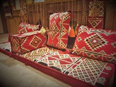 1001 nights ARABIC SEATING foam filled HOOKAH lounge مراكي Maraki جلسة عربية #Arabic #Traditionaltribal