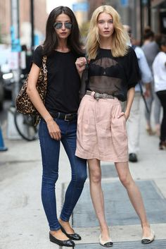 natural \ New York Fashion Week Street Style