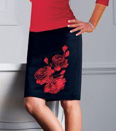 Falda mujer con detalle bordado Moda Mujer 40 Venca