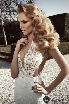 Nontraditional, elegant lace wedding dress. #weddingdress