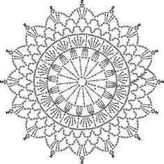 Ideas Crochet Mandala Shawl Doily Patterns For 2019 Crochet Doily Diagram, Crochet Mandala Pattern, Crochet Circles, Crochet Doily Patterns, Crochet Round, Crochet Chart, Crochet Squares, Crochet Home, Crochet Doilies