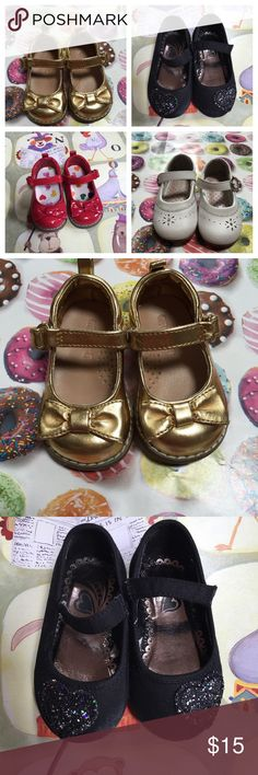 Infant/Toddler shoes Size 4 Infant/toddler shoes. Selling as a bundle but will separate upon request.  ⭐️5 Star Seller 🕐Fast Shipper ⬆️ Read my Reviews! Note: All Children's clothes are final sale/as is. Shoes Baby & Walker