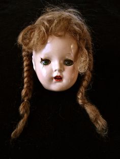 Vintage Ideal Composition Doll Head.  SOLD