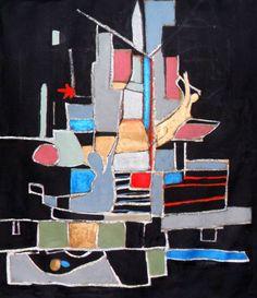 "Saatchi Art Artist Christian Michael Gallegos; Painting, ""Two Flags"" #art"