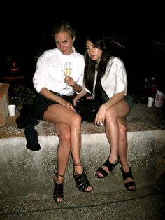 Chloe Sevigny and Jen Brill - both look silky and poshy and every celebrity itty girly