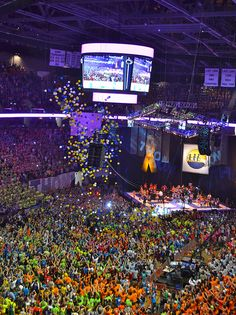 Penn State THON. largest student run philanthropy in the world raising money to fight childrens cancer...there are no words to describe this weekend.