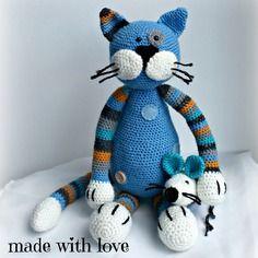 jouet chat au crochet