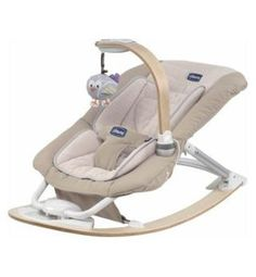 Chicco I feel baby bouncer. Reclines and rocks rather than bounces. MP3 player so we could plug in Hillsong! Not sure we would do that....but it's there anyway!