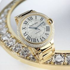 #diamonds and #gold go perfectly together - especially in our stunning #Cartier #ballonbleu now available at the #WatchCentre