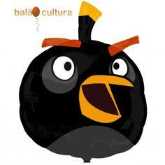 Balão Angry Birds Preto SS