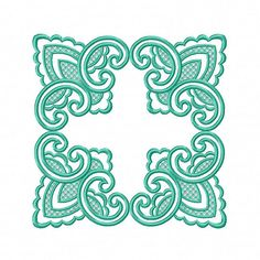 Doily Ornament Machine Embroidery Design Frame and Corner