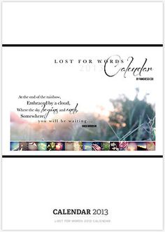 Lost for Words 2013 Calendar
