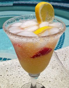 This Summertime Vodka Lemonade Fizz is very refreshing and perfect for a poolside party!
