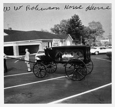 Horse Drawn Hearse- Robinson Funeral Home Hearse - used in 1900's
