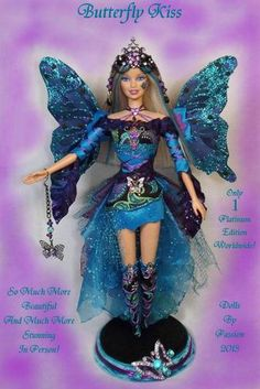 Barbie Fairy Butterfly Wings Collector Doll Altered OOAK Custom Fantasy Passion   eBay