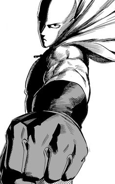 Saitama | One Punch Man.                 I GOTTA START WATCHING THIS IF I CAN... the art is amazing..