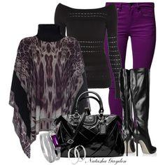 """Purple Jeans"" by natasha-gayden on Polyvore"