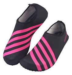 Panegy Unisex Barefoot Water Skin Shoes for Beach Swim Surf Yoga Exercise Red M *** Click image to review more details.