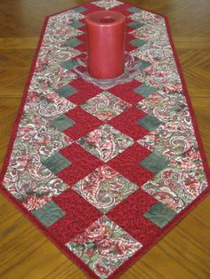 Paisley and Red Table Runner