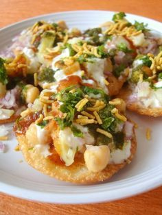 Papdi Chaat My favorite, yum! Of course I'd probably be lazy and by my own papdi and sev