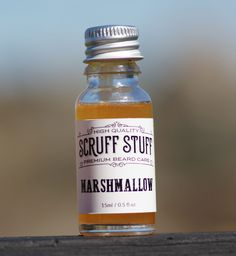 Marshmallow beard oil by Scruff Stuff contains hints of vanilla and patchouli, sweetened with orange. It's unlike anything you've smelt before. Base oils: Grapeseed, coconut, jojoba, castor and vitamin e.