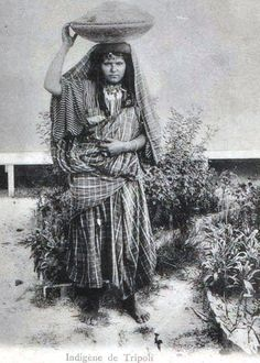 1913 photo of a Libyan woman