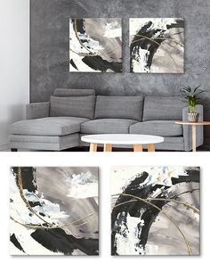 Juego de 2 lienzos _ Gilded Arcs Drip Painting, Oil Painting Abstract, Abstract Wall Art, Realism Art, Pottery Art, Art Pictures, Illustration Art, Canvas Art, Decoration